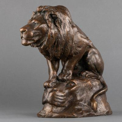 Georges Gardet (1863-1939) - Lion - Dedicated Workshop Plaster - Late XIX / Early XXth Century
