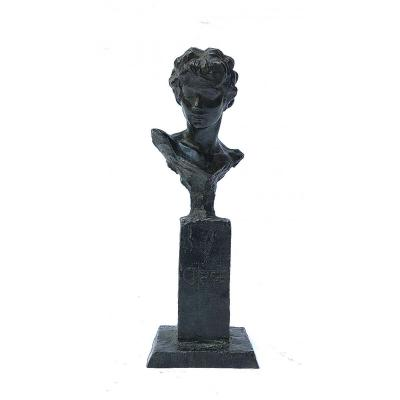 """Michel Lévy: """"circé"""" Sculpture Of A Bronze Bust With Black Patina - Numbered, Around 1990"""