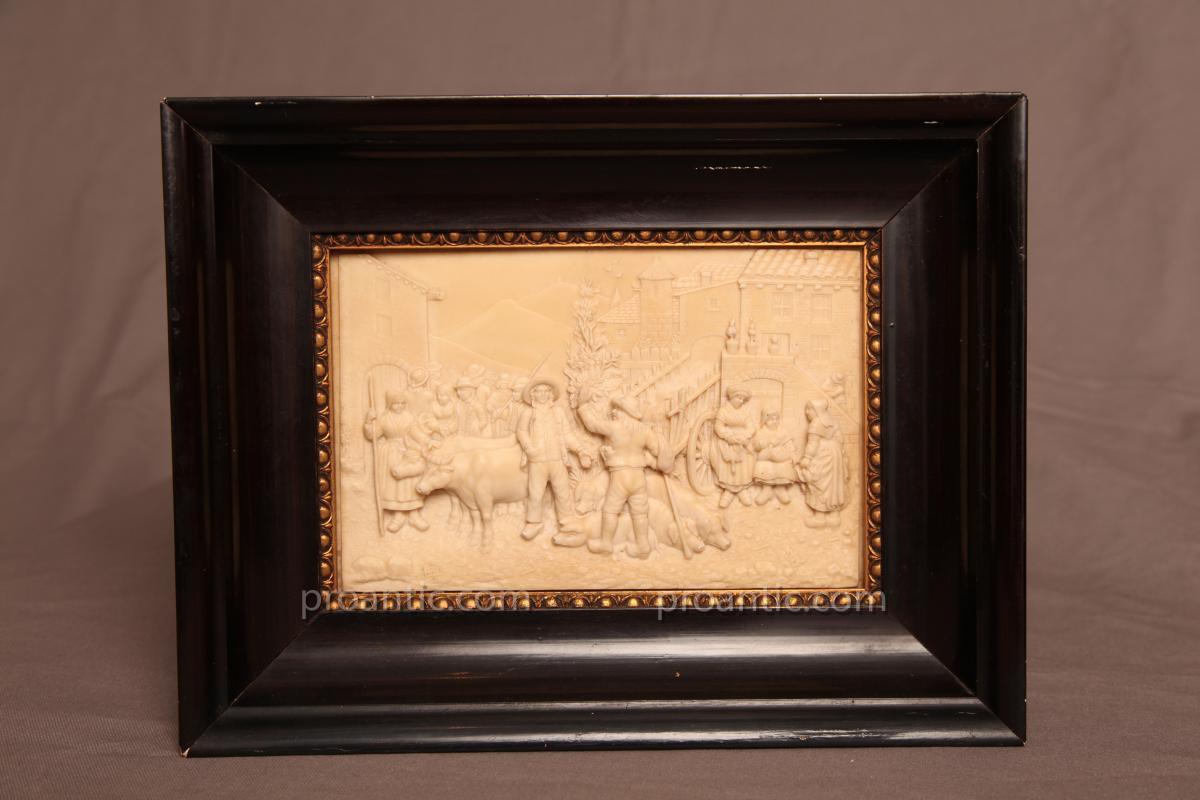 Tableau En Calcaire d'époque 19ème
