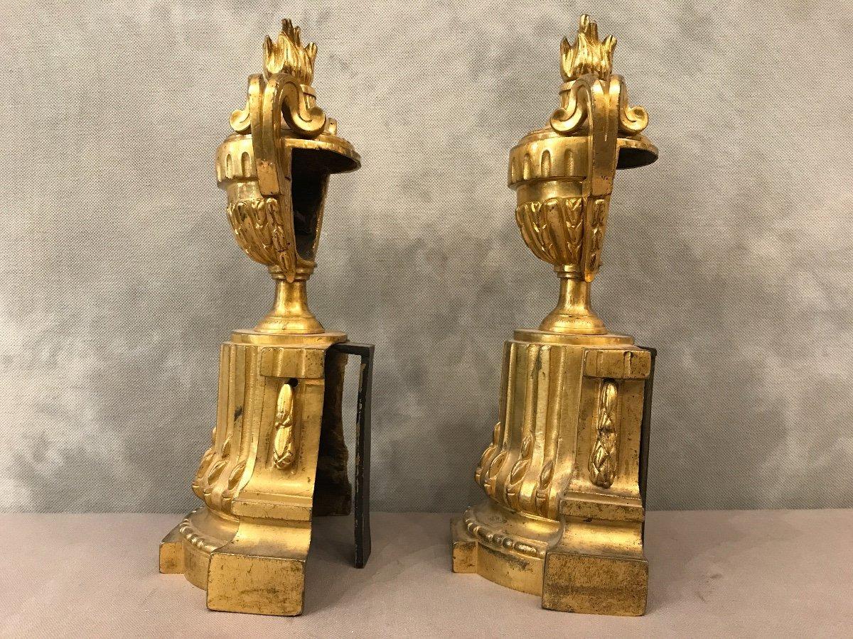 Bronze Andirons Of 18th époquetransition-photo-4