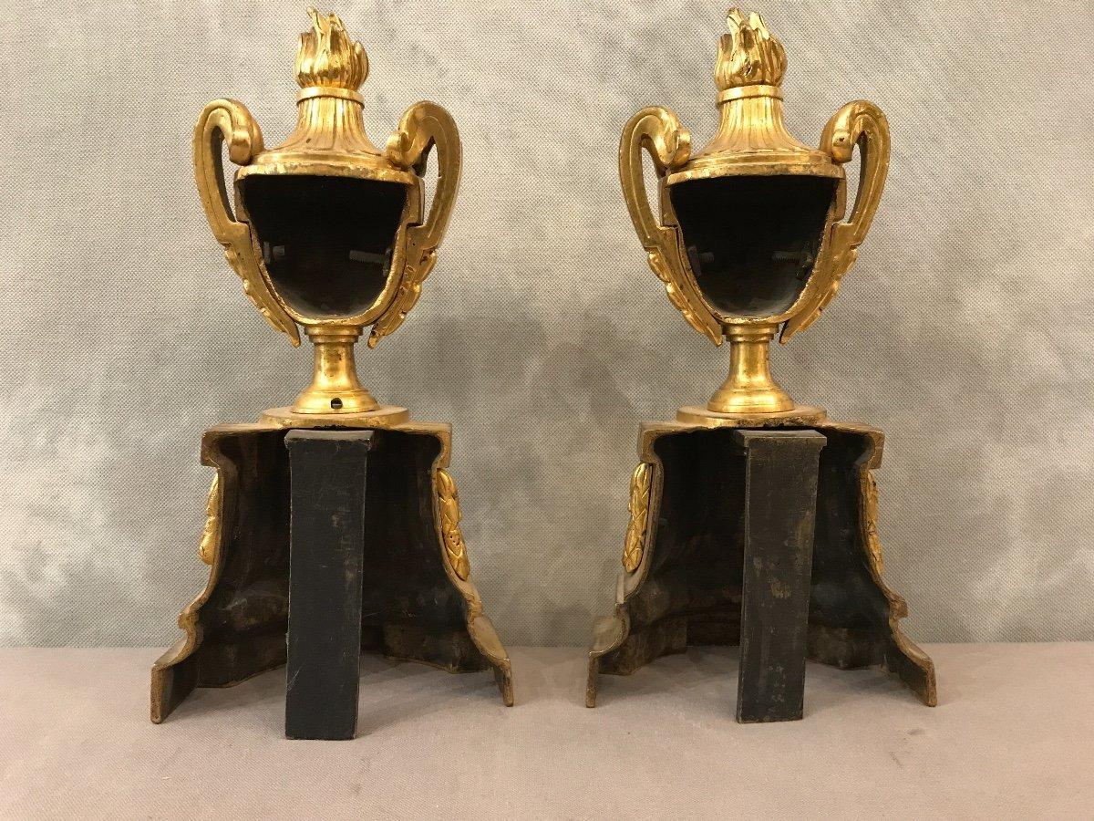 Bronze Andirons Of 18th époquetransition-photo-1