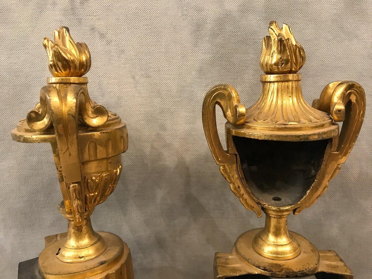 Bronze Andirons Of 18th époquetransition-photo-2
