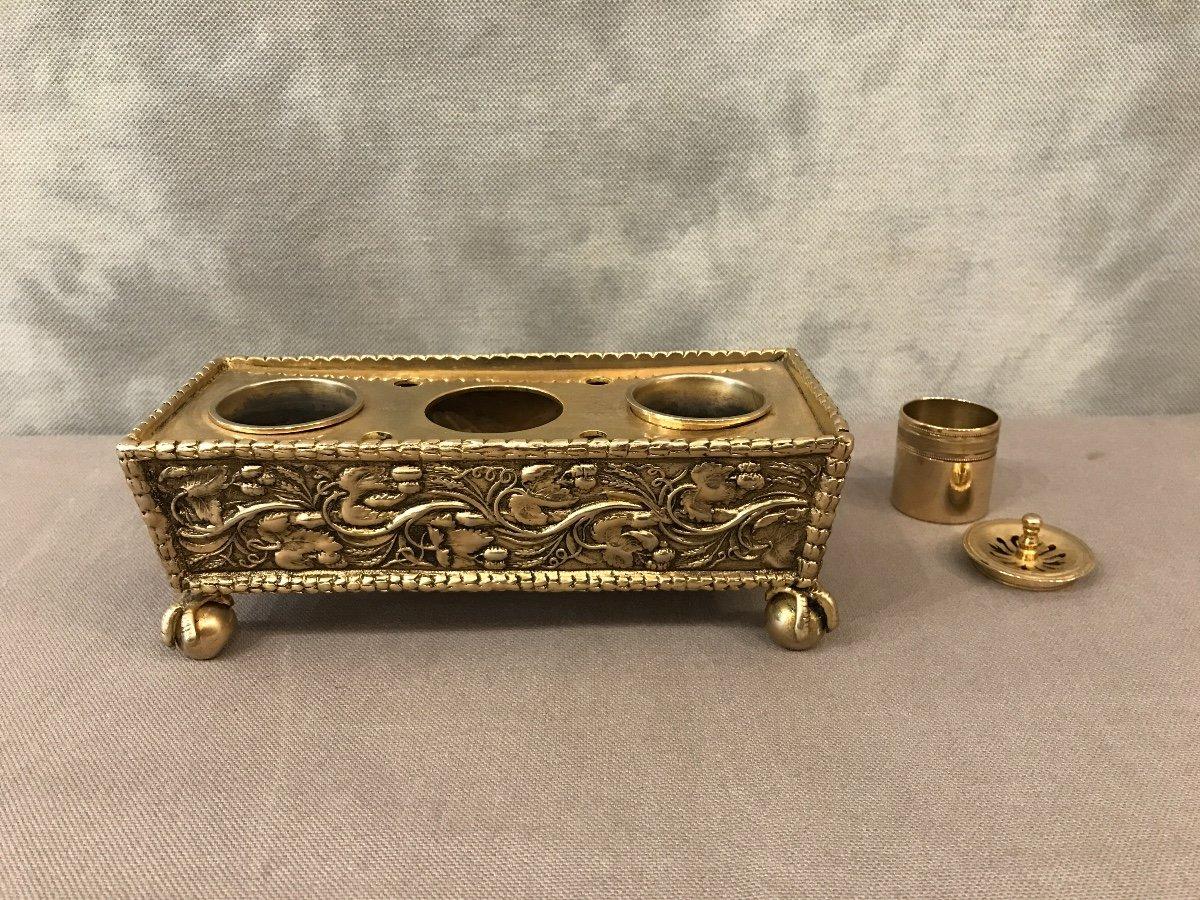 Inkwell Bronze Napoleon III-photo-2