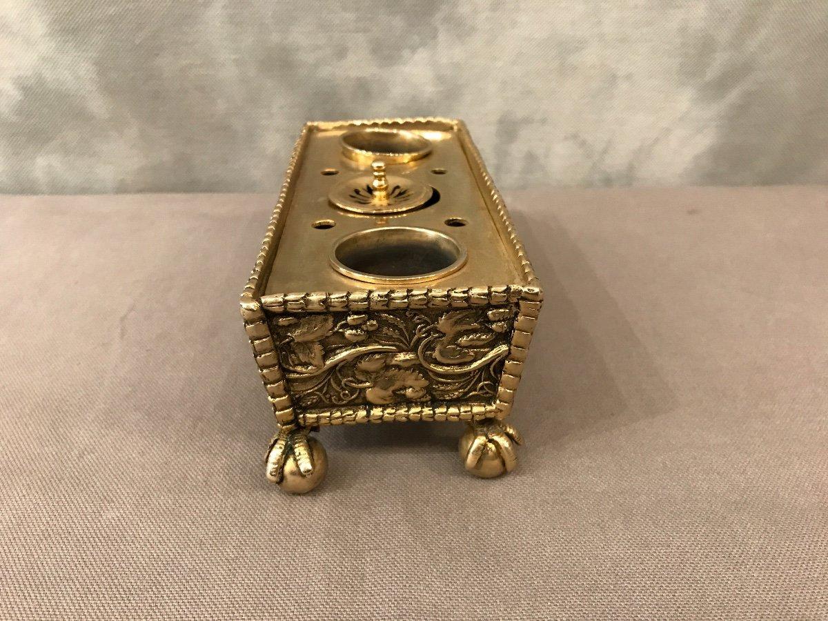 Inkwell Bronze Napoleon III-photo-1