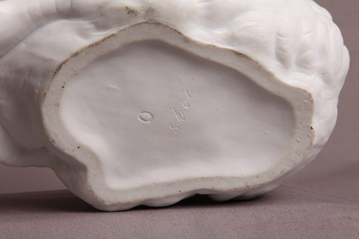 Cygne En Porcelaine De Biscuit d'époque 19ème-photo-2