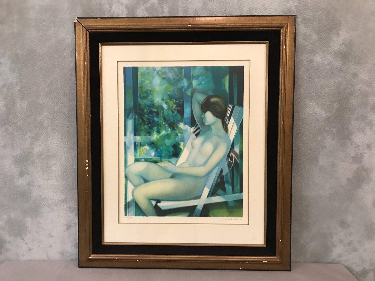 Lithographie Originale De Camille Hilaire