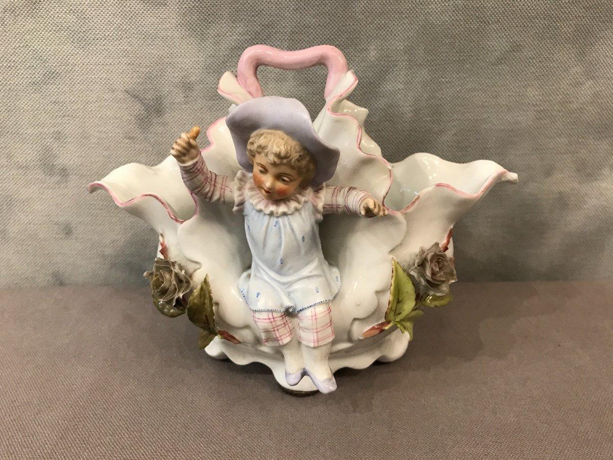 Small Basket Porcelain 19th