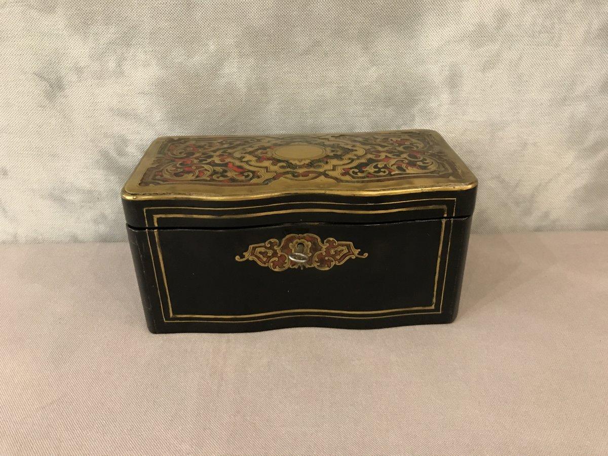 Boîte à Thé D'époque 19ème Napoléon III Boule