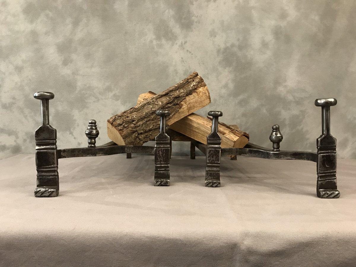 Pair Of 18th Century Iron Andirons