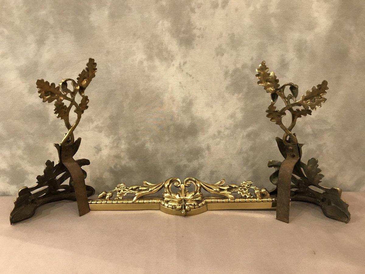 Barre De Foyer En Bronze Louis XV 19 ème-photo-1
