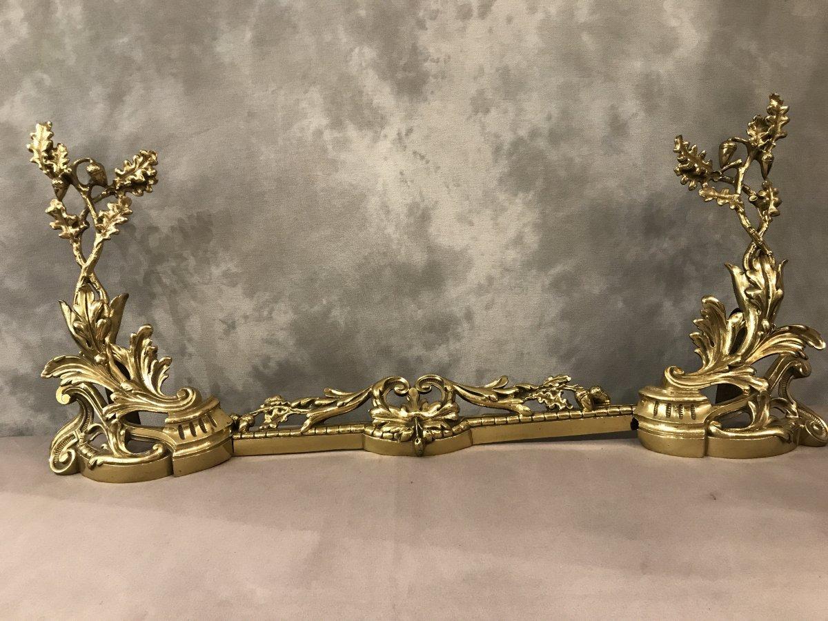Barre De Foyer En Bronze Louis XV 19 ème