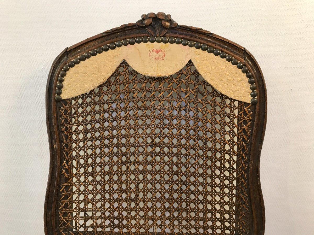 18th Louis XV Natural Wood Convenience Chair-photo-3
