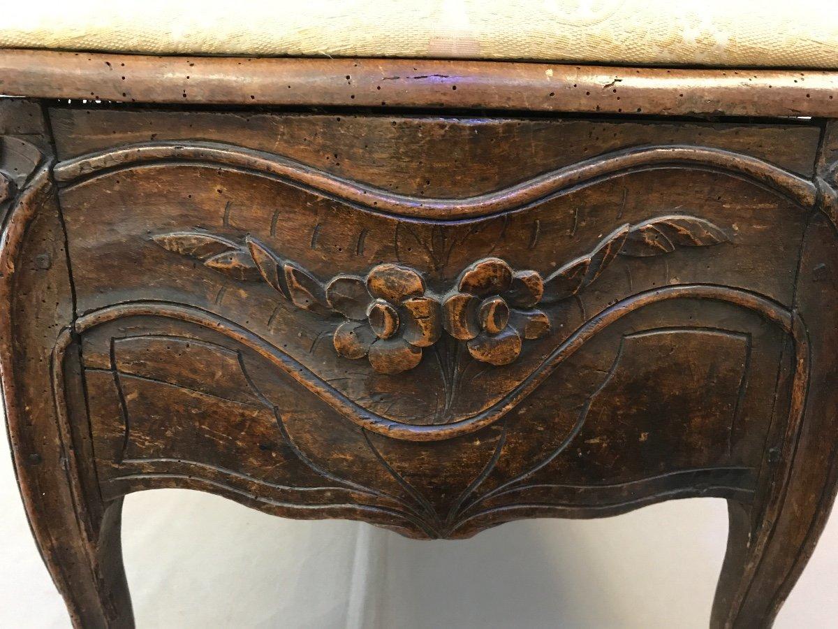 Chaise De Commodité En Bois Naturel D'époque 18ème Louis XV -photo-7