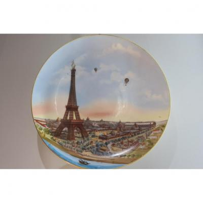 Grand Plat Porcelaine De l'Exposition Universelle De 1900
