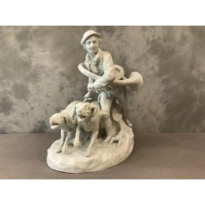 Hunting Subject Porcelain 19th Time
