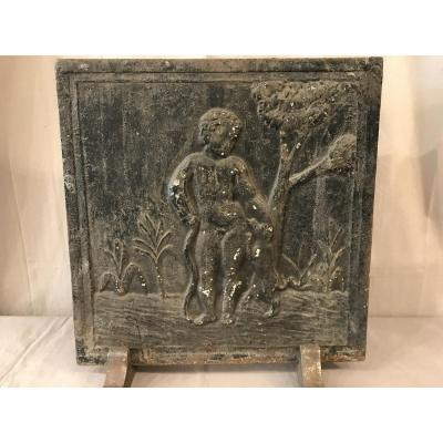 18th Century Cast Iron Fireplace Plate