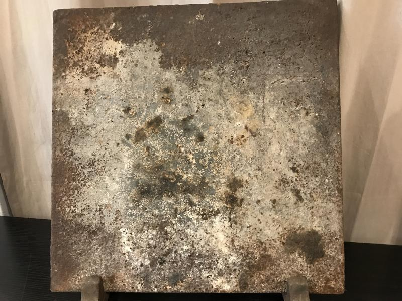 Antique Cast Iron Fireplace Plate From Late 18th Century-photo-4