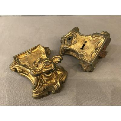 19th Century Gilt Bronze Double Lock