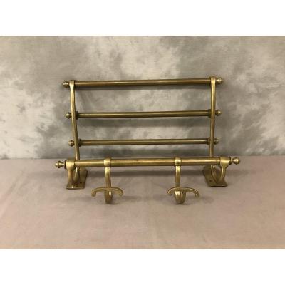 19th Louis Philippe Coat Rack In Brass