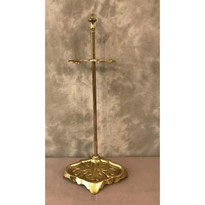 Antique Fireplace Servant In Brass And Bronze From The 19th Louis XVI Napoleon III