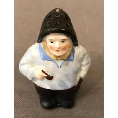 Petite Salière miniature  En Porcelaine D'époque 19ème