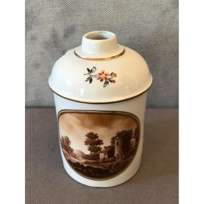 Pot En Porcelaine De Frankethal Vers 1775
