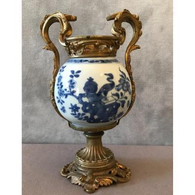 Pot En Porcelaine Chinoise Monture En Bronze D'époque 19ème