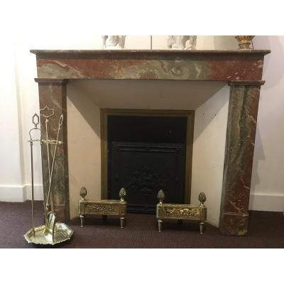 Small 19th Century Painted Wood Fireplace Decor
