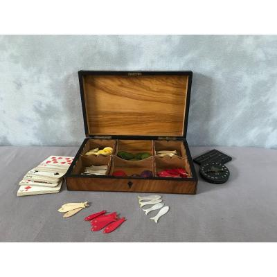 19th Century Marquetry Game Box