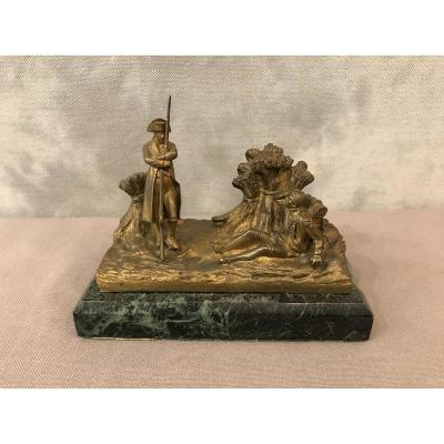 Bronze De Napoléon La Sentinelle Endormie D'époque 19 ème