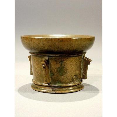 Mortier En Bronze XVII 17eme Siécle