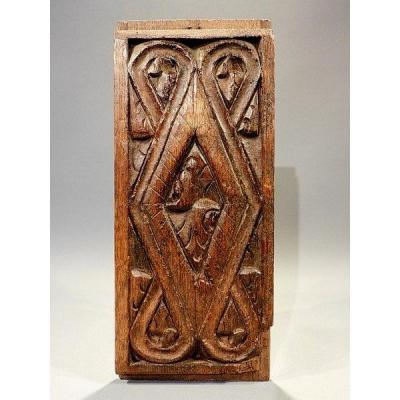 Sign Carved Wood 17th Century High Epoque