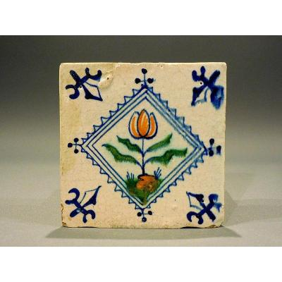 17th Century Pair Of Dutch Tiles