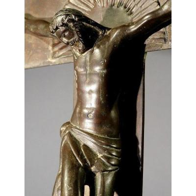 Copper Processional Cross  Corpus Christ Late 17th Century