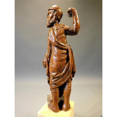 Statue d'Un Retable En Bois Sculpté 16éme Siécle Haute Epoque Gothique
