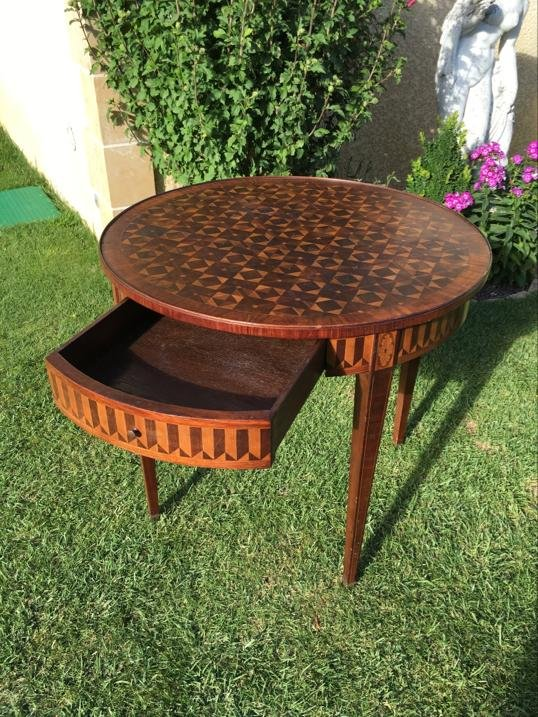 E. Gallet From Paris - Marquetry Hot Water Table-photo-2