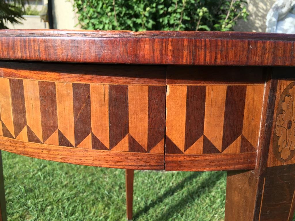 E. Gallet From Paris - Marquetry Hot Water Table-photo-3