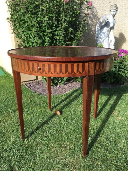 E. Gallet From Paris - Marquetry Hot Water Table-photo-4