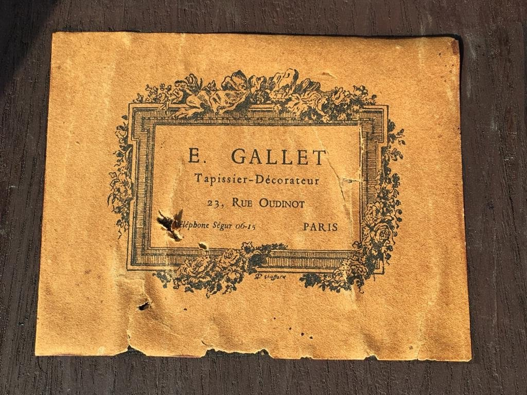 E. Gallet From Paris - Marquetry Hot Water Table-photo-6