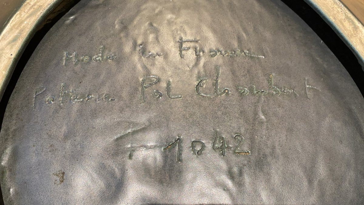Pol CHAMBOST - Grand Plat à Huîtres en Céramique -photo-5