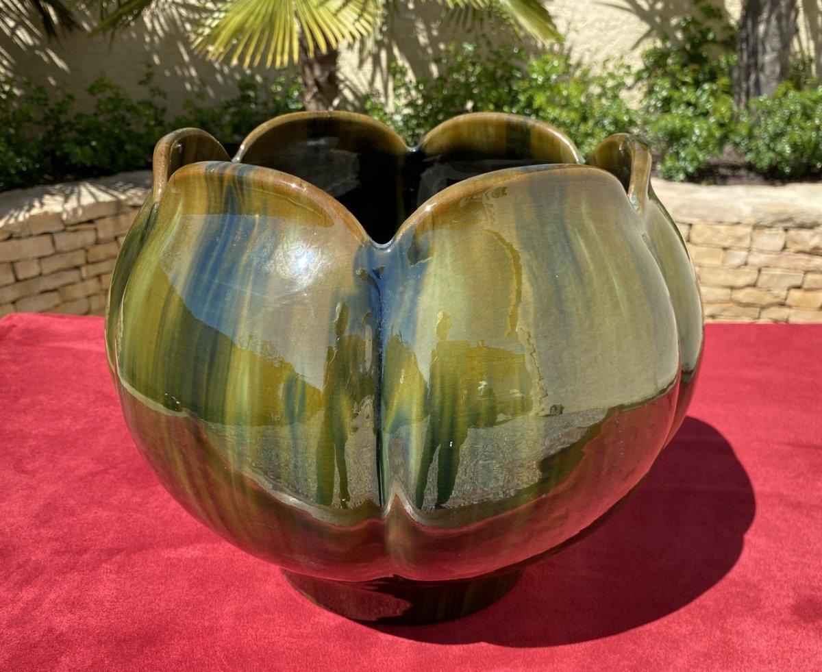 Delphin MASSIER - Cache-pots «Nénuphar » VALLAURIS