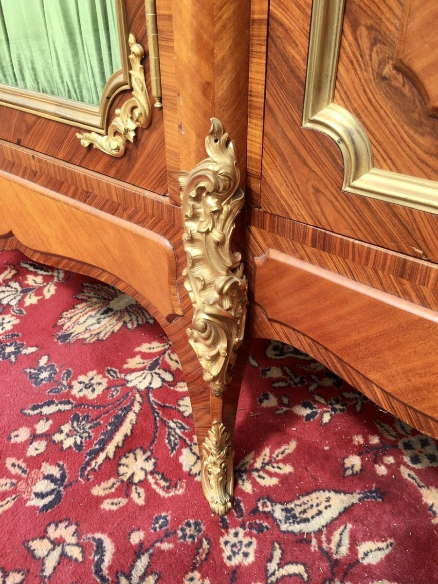 P. Sormani - Marquetry & Bronze Bookcase-photo-3