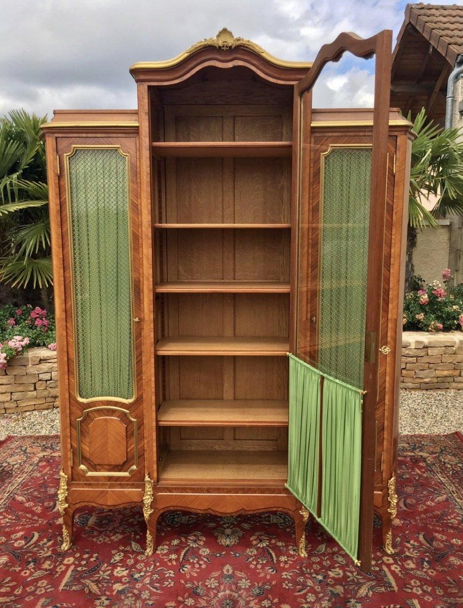 P. Sormani - Marquetry & Bronze Bookcase-photo-7