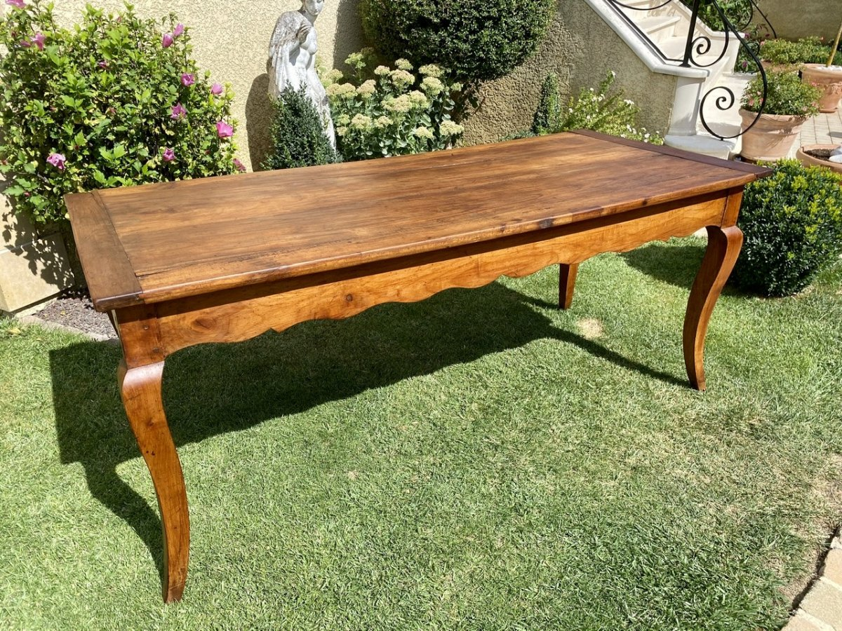 Louis XV Style Farmhouse Table In Solid Cherry   Dinner Tables