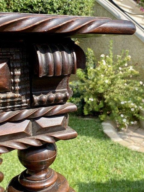 XVIIIe - Table Portugaise en Palissandre & Bronze -photo-1
