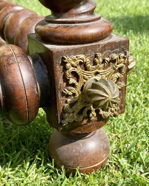 XVIIIe - Table Portugaise en Palissandre & Bronze -photo-2