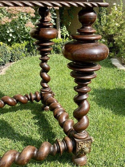 XVIIIe - Table Portugaise en Palissandre & Bronze -photo-3