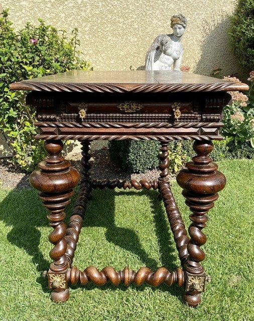 XVIIIe - Table Portugaise en Palissandre & Bronze -photo-4
