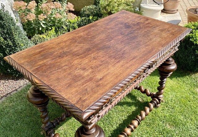XVIIIe - Table Portugaise en Palissandre & Bronze -photo-6