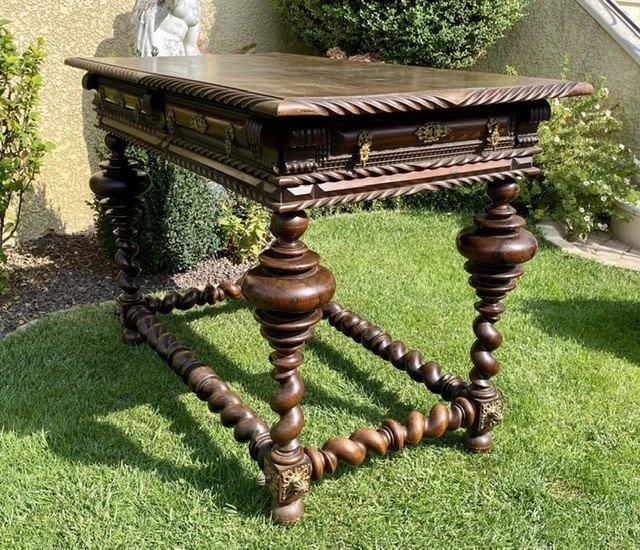 XVIIIe - Table Portugaise en Palissandre & Bronze -photo-8